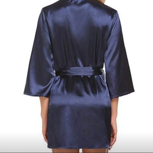 Blue robe back view