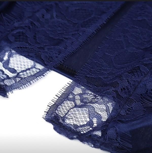 Blue silky robe pattern