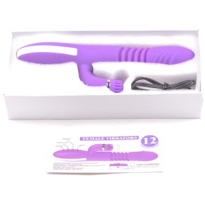 Purple heating vibrator retail box