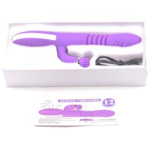 Purple heating vibrator retail box
