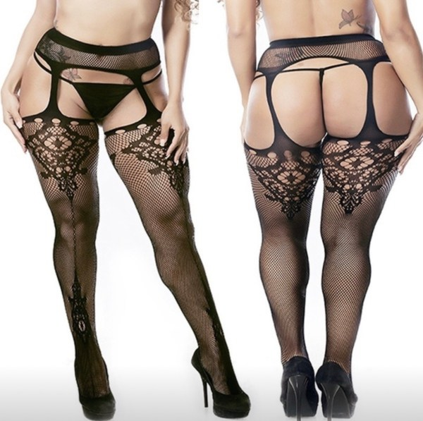 Simply Sinful plus size fishnet tights