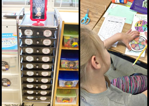 guided math stations, math stations, math centers, organizing math stations
