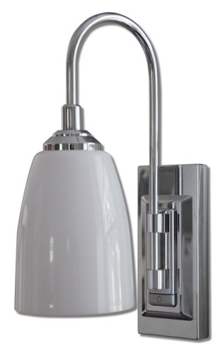 Rite Lite LPL780C Battery-Operated LED Classic Chrome Wall ... on Battery Powered Wall Sconces id=95679