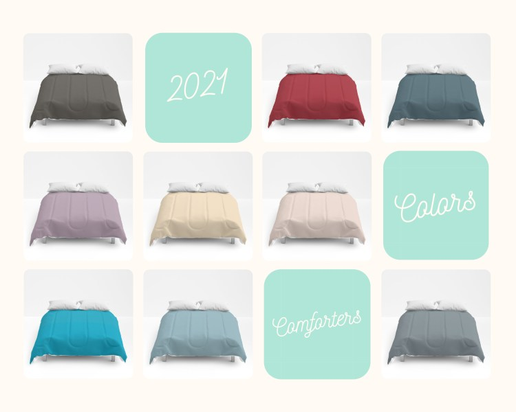 Color of the Year 2021 on Decorative Solid Color Comforter - Bedding - Bedroom Décor