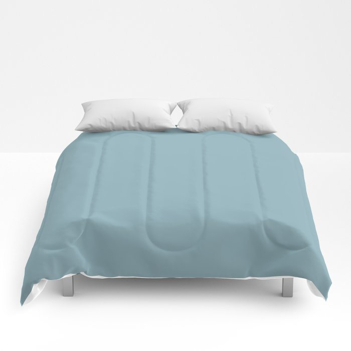 Angel Wings Blue Solid Color Pairs To Valspars 2021 Color of the Year Lucy Blue 5001-5C Comforters