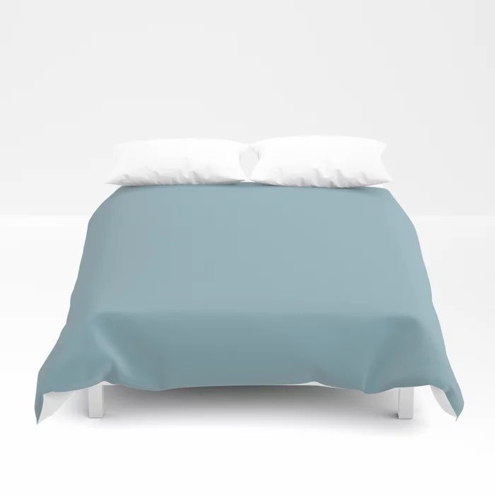 Angel Wings Blue Solid Color Pairs To Valspars 2021 Color of the Year Lucy Blue 5001-5C Duvet Cover