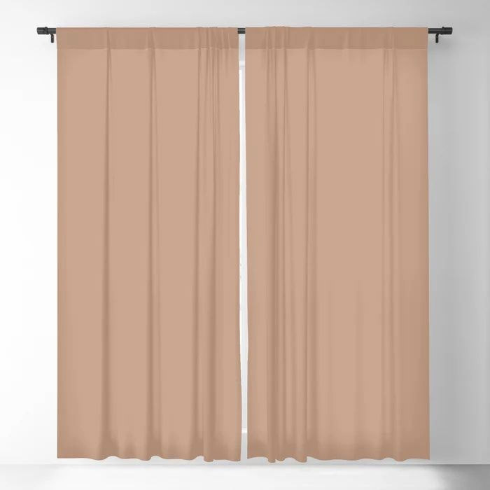 Blush Pink Solid Color Pairs To Behr's 2021 Trending Hue Canyon Dusk S210-4 Blackout Curtain