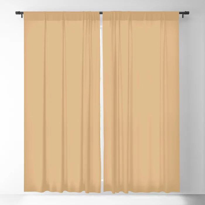 Crushed Almonds Solid Color Pairs To Behr's 2021 Trending Color Cellini Gold HDC-CL-18 Blackout Curtain