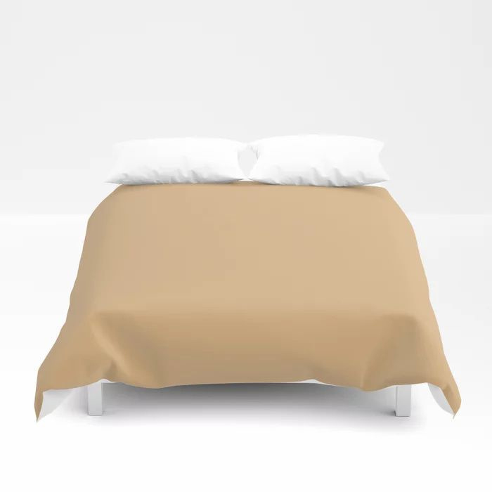 Crushed Almonds Solid Color Pairs To Behr's 2021 Trending Color Cellini Gold HDC-CL-18 Duvet Cover