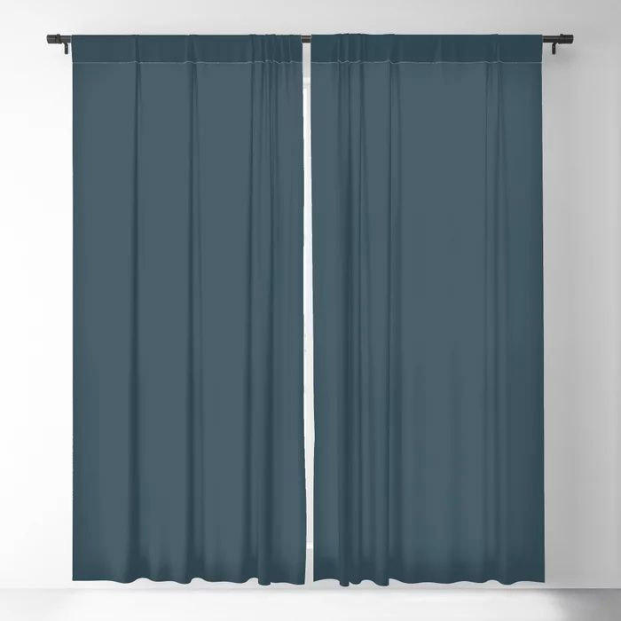 Dark Blue Grey Solid Color Pairs To Behr's 2021 Trending Color Nocturne Blue HDC-CL-28 Blackout Curtain