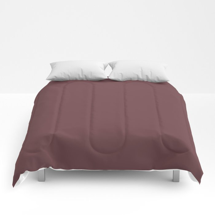 Dark Burgundy Red Solid Color Pairs 2021 Color of the Year Preference Red No.297 Comforters