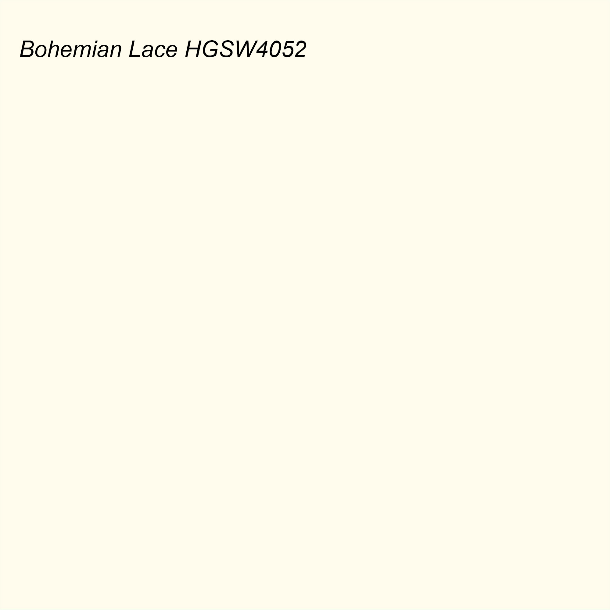 HGTV 2021 Color of the Year Suggested Accent Shade Bohemian Lace HGSW4052
