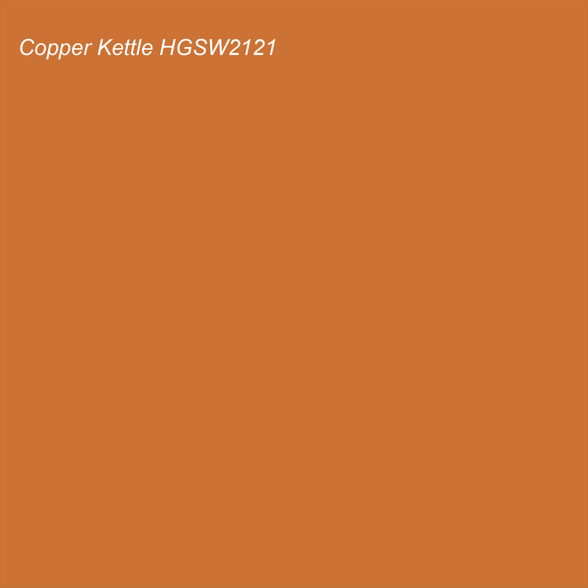 HGTV 2021 Color of the Year Suggested Accent Shade Copper Kettle HGSW2121