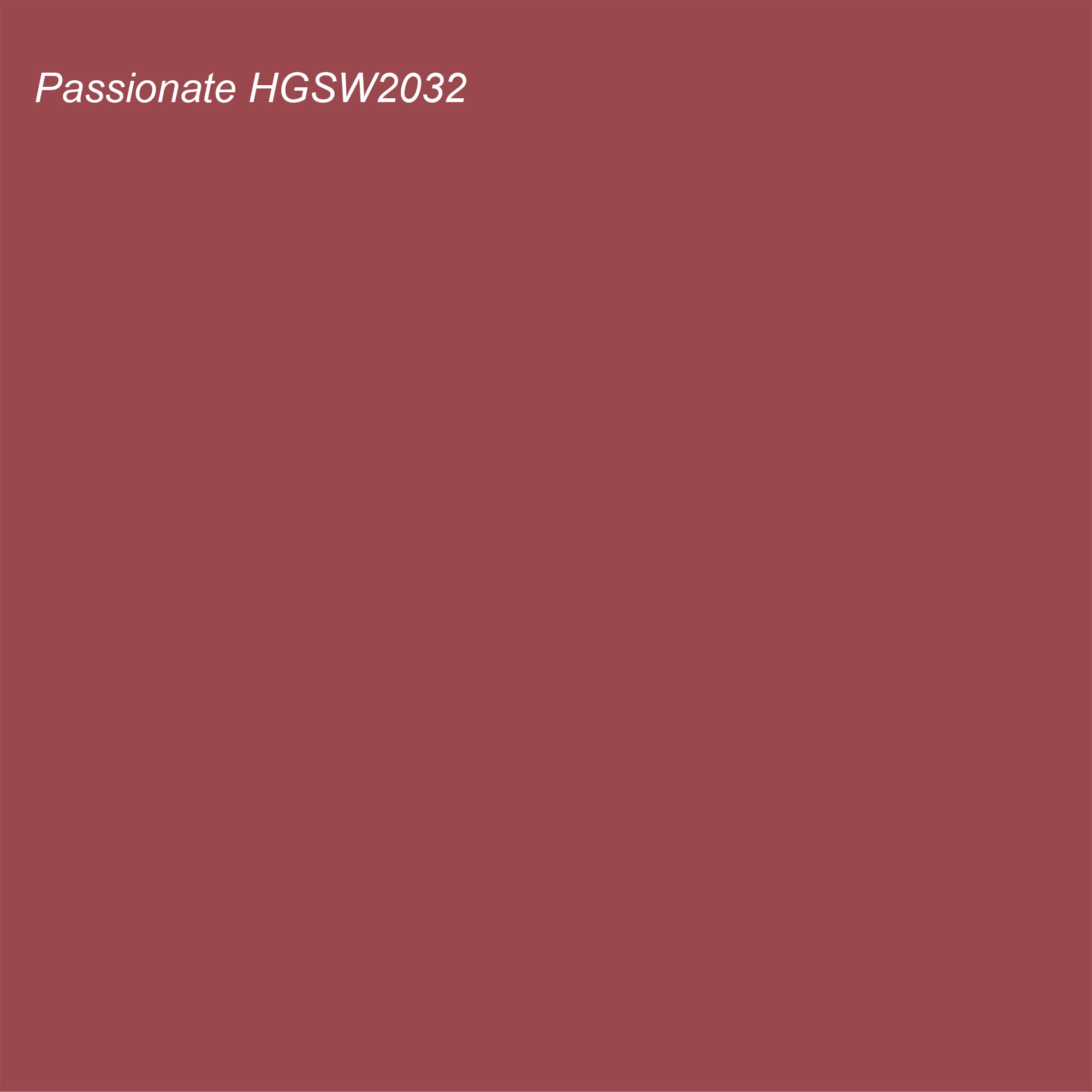 HGTV 2021 Color of the Year Suggested Accent Shade Passionate HGSW2032