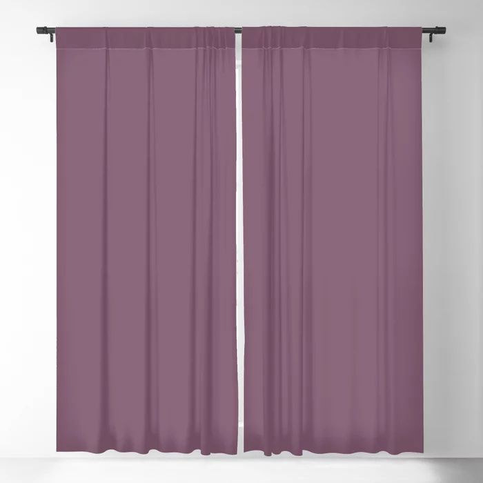 Jumping Jamboree Purple Solid Color Pairs To Behr's 2021 trending color Euphoric Magenta M110-7 Blackout Curtain