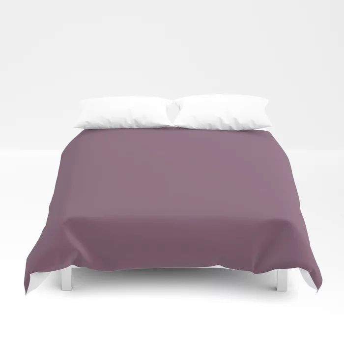 Jumping Jamboree Purple Solid Color Pairs To Behr's 2021 trending color Euphoric Magenta M110-7 Duvet Cover