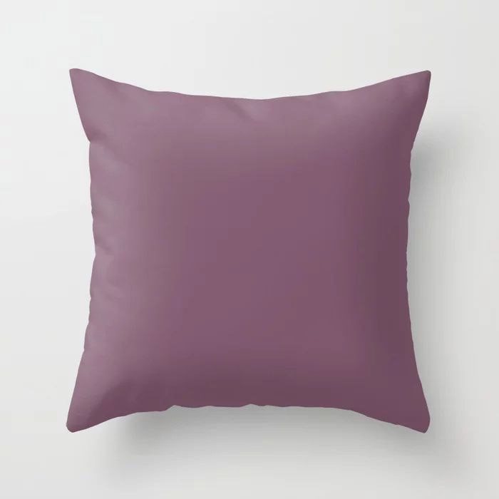 Jumping Jamboree Purple Solid Color Pairs To Behr's 2021 Trending Color Euphoric Magenta M110-7 Throw Pillow