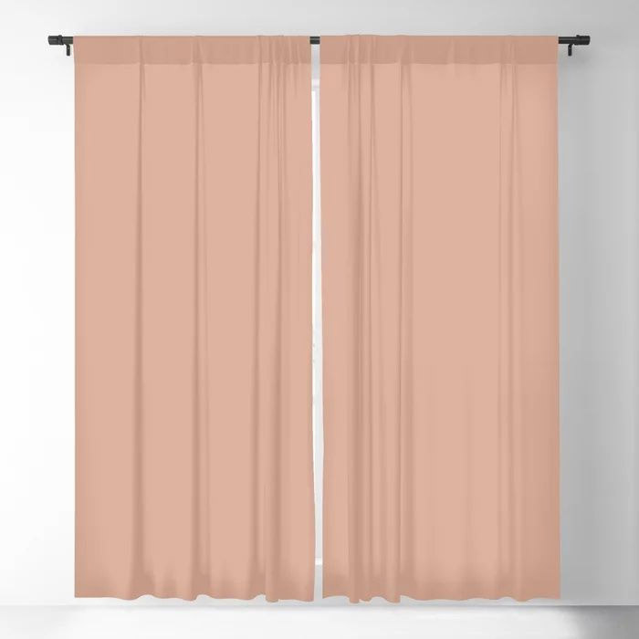 Just Peachy Solid Color Pairs To Valspars 2021 Color of the Year Arizona Dust 2003-8A Blackout Curtain