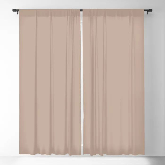 Lace Pastel Pink Solid Color Pairs Farrow and Ball 2021 Color of the Year Dead Salmon No.28 Blackout Curtain