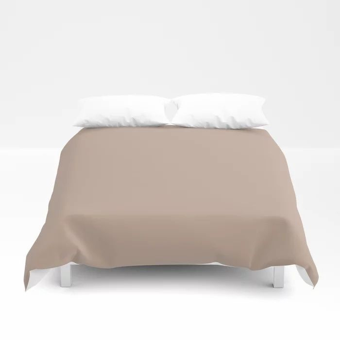 Lace Pastel Pink Solid Color Pairs Farrow and Ball 2021 Color of the Year Dead Salmon No.28 Duvet Cover