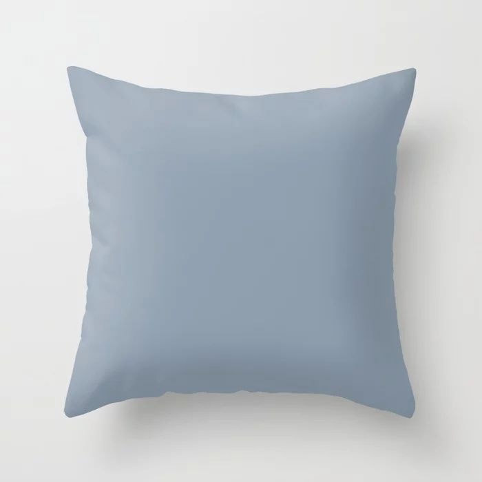 Mid Tone Sky Blue Solid Color Pairs To Valspars 2021 Color of the Year Blissful Blue 4005-3C Throw Pillow