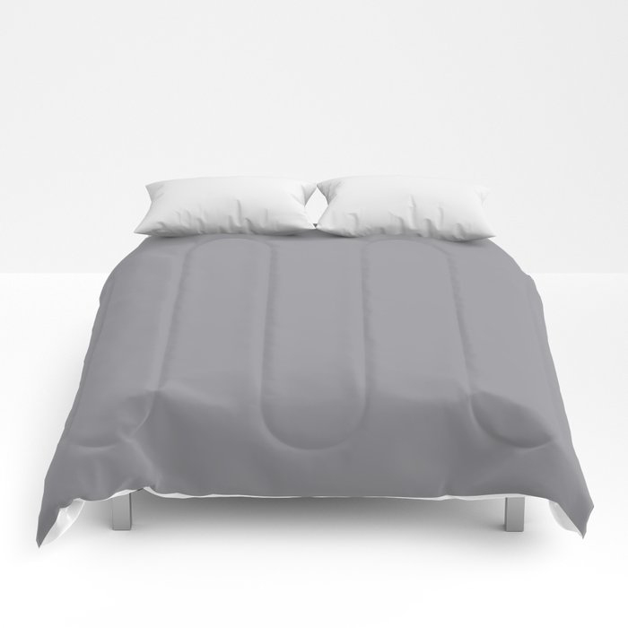 Modern Steel Gray Solid Color Pairs Pantone's 2021 Color of the Year Ultimate Gray 17-5104 Comforters