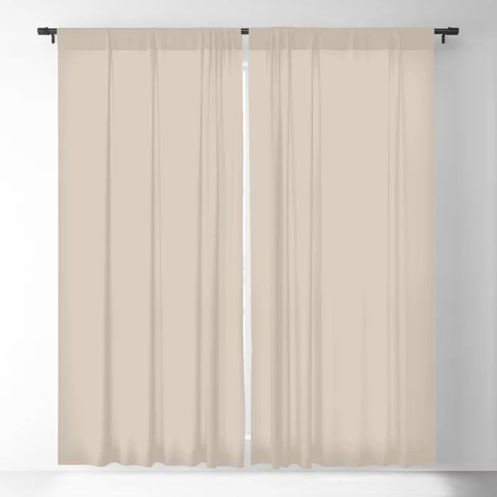 Pale Taupe Solid Color Pairs To Behr's 2021 Trending Color Almond Wisp PPU5-12 Blackout Curtain
