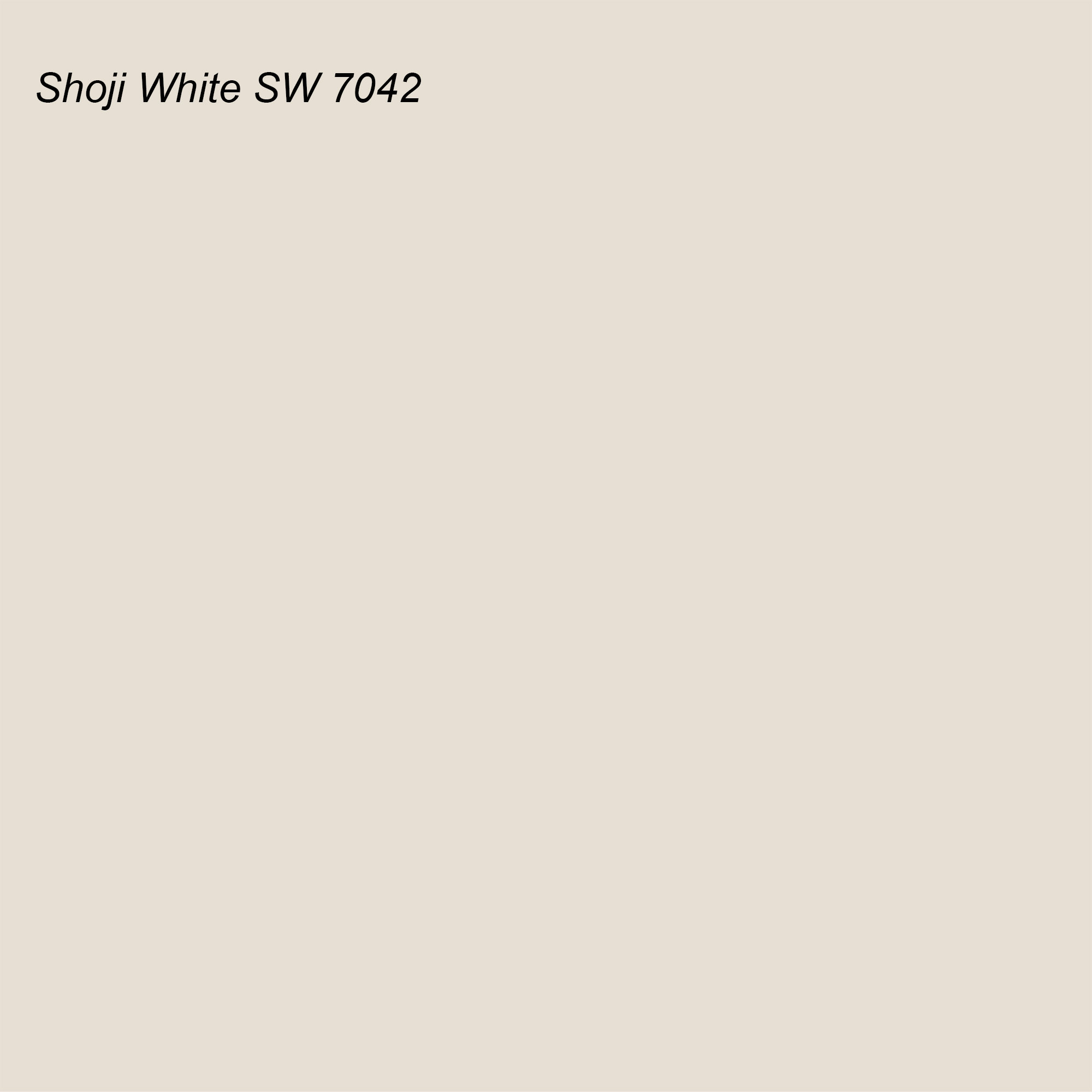 Sherwin Williams 2021 Color of the Year Suggested Accent Shade Shoji White SW 7042