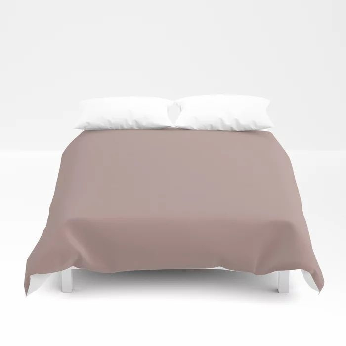 Softened Mauve Pink Solid Color Pairs To Valspars 2021 Color of the Year Cherry Taupe 1005-10A Duvet Cover
