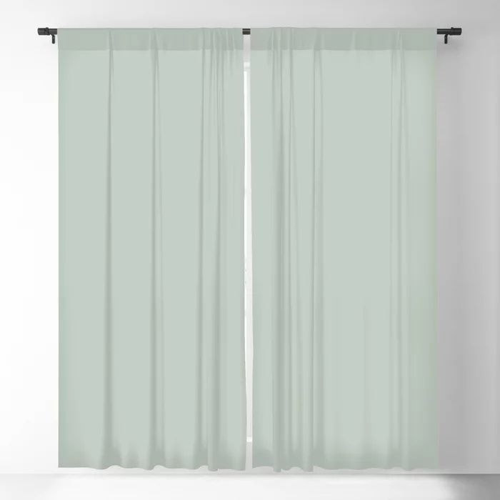 Spring Grass Green Solid Color Pairs To Valspars 2021 Color of the Year Garden Flower 5004-3B Blackout Curtain