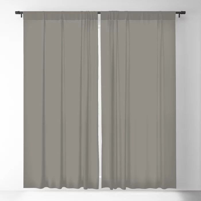 Weathered Wood Grey Solid Color Behr's 2021 Trending Color Barnwood Gray PPU24-07 Blackout Curtain