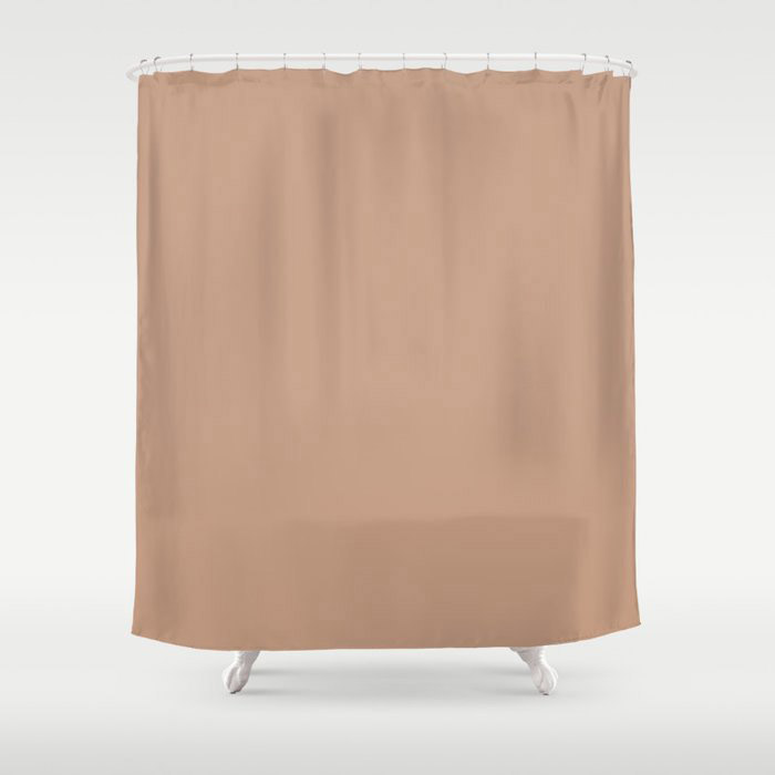 Blush Pink Solid Color Pairs To Behr's 2021 Trending Hue Canyon Dusk S210-4 Shower Curtain