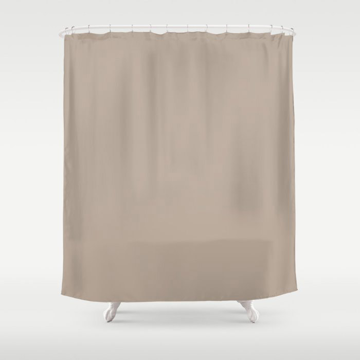 Comforting Brown Solid Color Pairs Farrow and Ball's 2021 Color of the Year Jitney 293 Shower Curtain