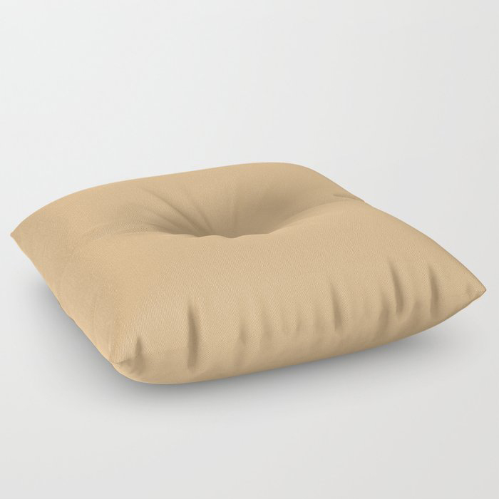 Crushed Almonds Solid Color Pairs To Behr's 2021 Trending Color Cellini Gold HDC-CL-18 Floor Pillow
