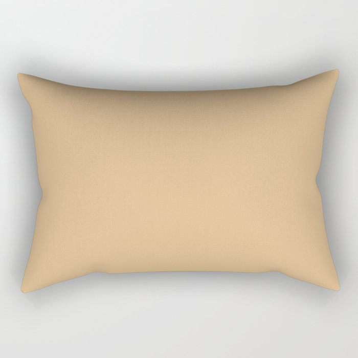 Crushed Almonds Solid Color Pairs To Behr's 2021 Trending Color Cellini Gold HDC-CL-18 Rectangular Pillow