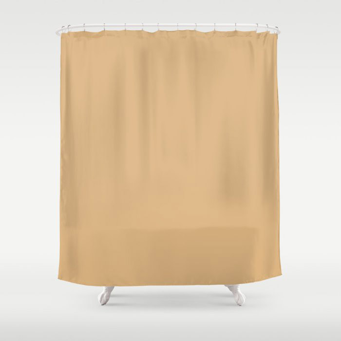 Crushed Almonds Solid Color Pairs To Behr's 2021 Trending Color Cellini Gold HDC-CL-18 Shower Curtain