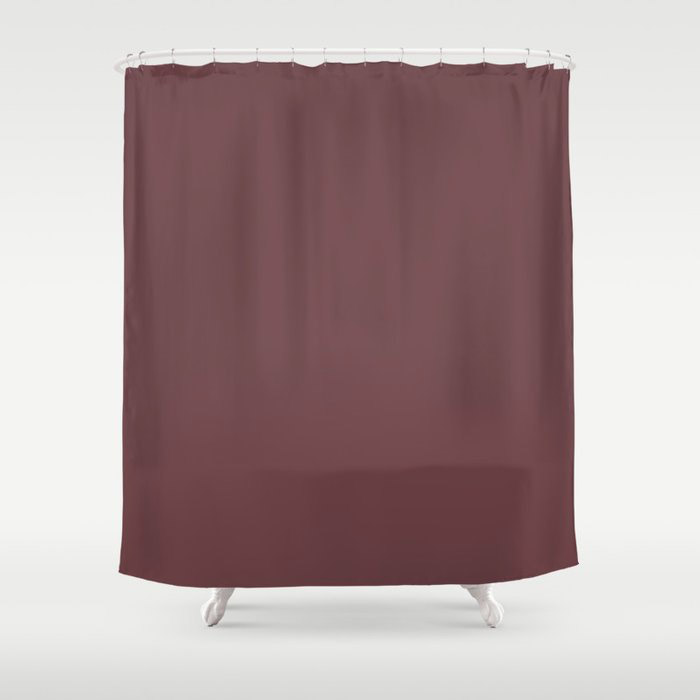 Dark Burgundy Red Solid Color Pairs 2021 Color of the Year Preference Red No.297 Shower Curtain