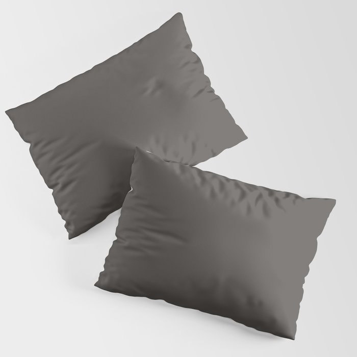 Dark Gray Brown Solid Color Pairs To Farrow and Ball Color of The Year Tanner's Brown No.255 Pillow Sham