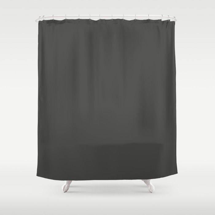 Dark Grey Solid Color Behr's 2021 Trending Color Broadway PPU18-20 Shower Curtain