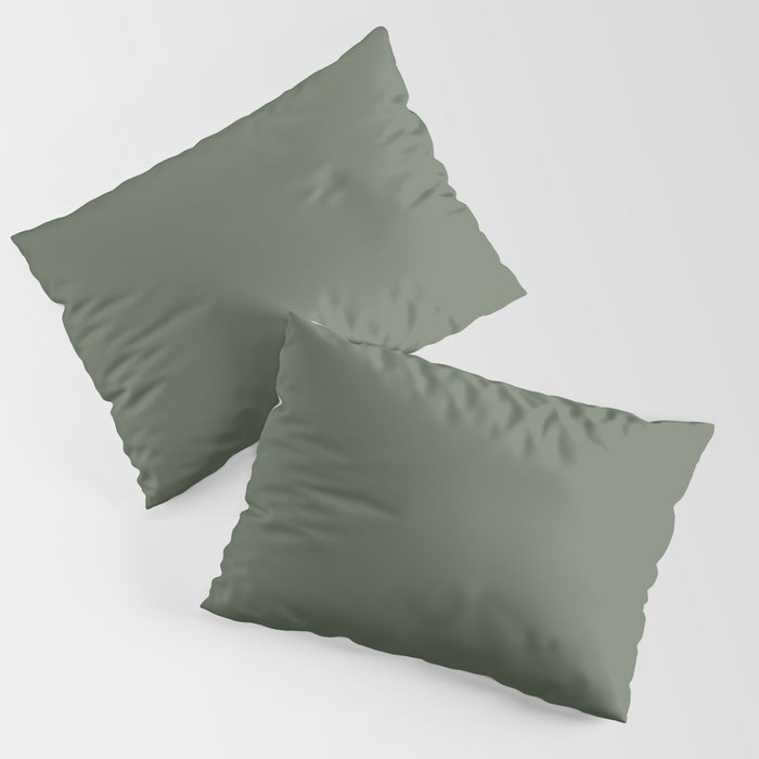 Dark Olive Green Solid Color Behr's 2021 Trending Color Royal Orchard PPU11-01 Pillow Sham