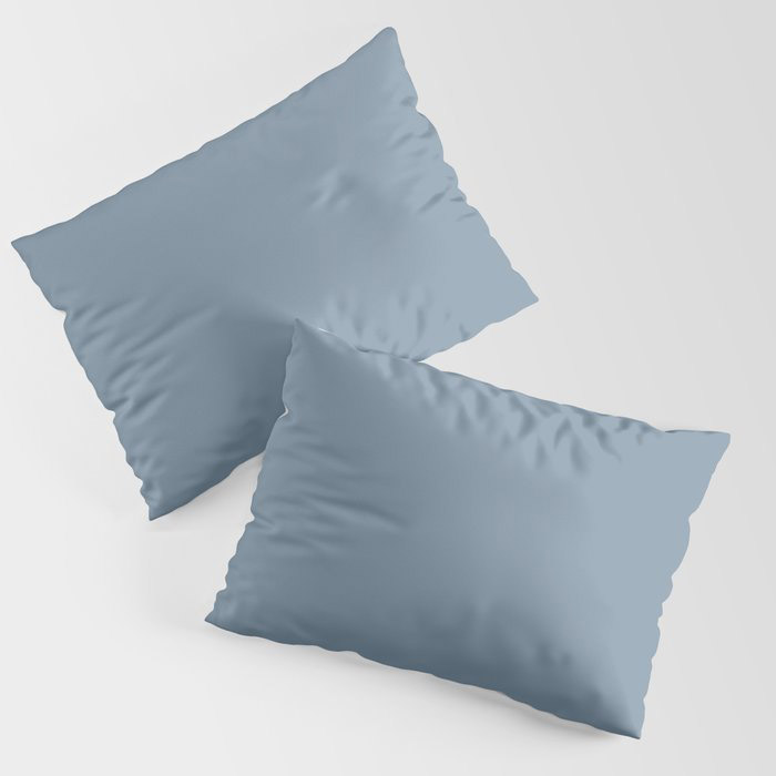 Dark Pastel Blue Solid Color Pairs To Behr's 2021 Trending Color Jean Jacket Blue S510-4 Pillow Sham
