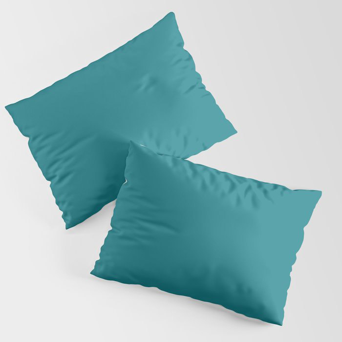Dark Turquoise Solid Color Pairs To Behr's 2021 Trending Color Caribe PPU13-01 Pillow Sham