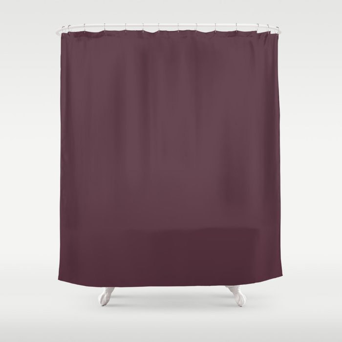 Deep Amethyst Purple Solid Graham and Brown 2021 Color of the Year Epoch Shower Curtain