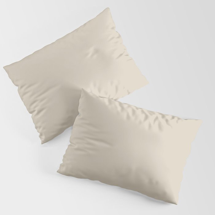Light Beige Solid Color Jolie 2021 Color of the Year Uptown Ecru Pillow Sham