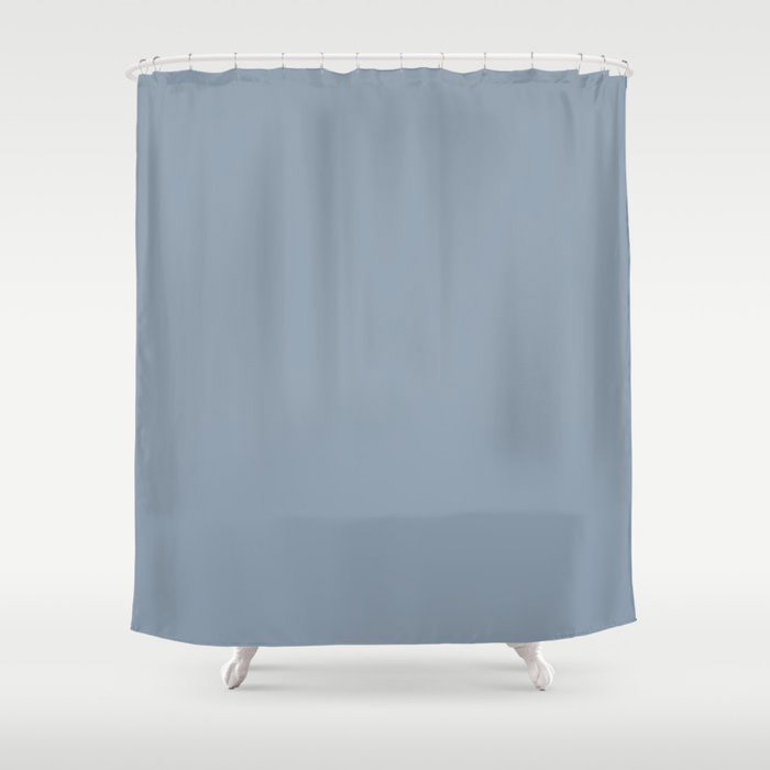 Mid Tone Sky Blue Solid Color Pairs To Valspars 2021 Color of the Year Blissful Blue 4005-3C Shower Curtain