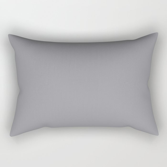 Modern Steel Gray Solid Color Pairs Pantone's 2021 Color of the Year Ultimate Gray 17-5104 Rectangular Pillow