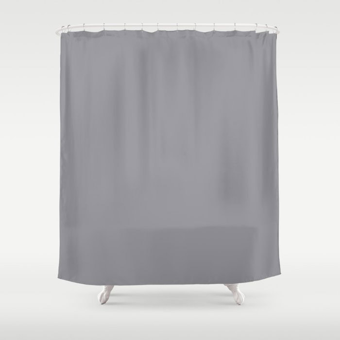 Modern Steel Gray Solid Color Pairs Pantone's 2021 Color of the Year Ultimate Gray 17-5104 Shower Curtain