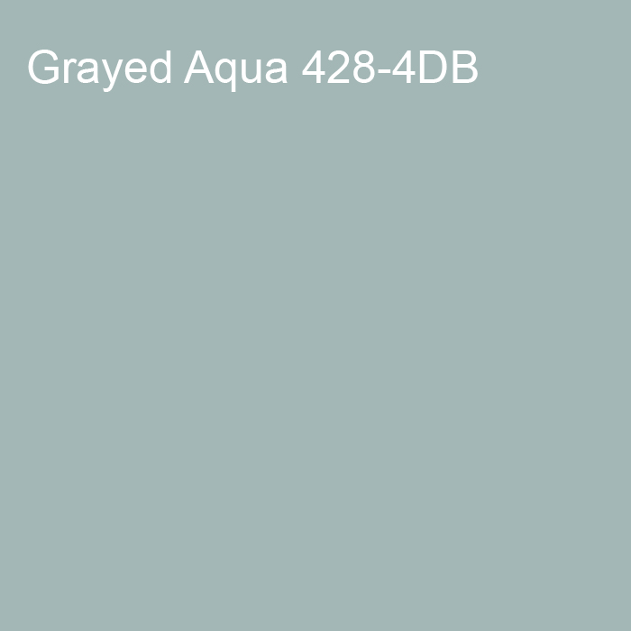 Muted Teal Blue Trending Solid Color Pairs To Dutch Boy 2021 Color of the Year Accent Shade Grayed Aqua 428-4DB
