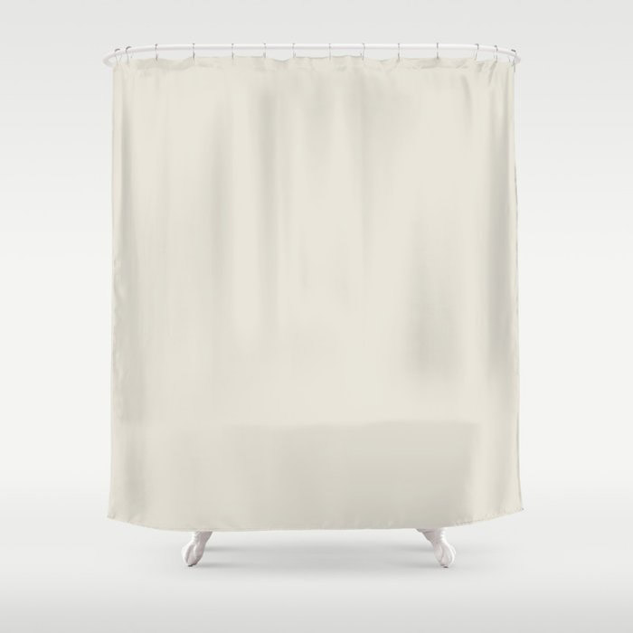 Off White Solid Color Pairs To Behr's 2021 Trending Color Smoky White BWC-13 Shower Curtain