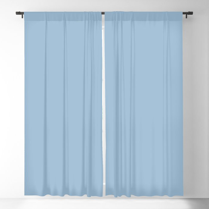Pastel Blue Solid Color Dutch Boy 2021 Color of the Year Earth's Harmony Blackout Curtain